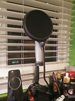 USB Condenser Microphone + Accessories (Never Used)