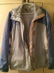 Woman's light blue large Columbia jacket