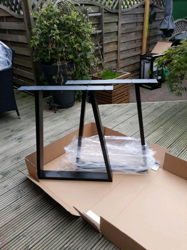 Trapiece metal legs satten black powder coated size w 58cm h 71 5 | in  Wallsend, Tyne and Wear | Gumtree