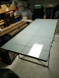 Large glass dining table or desk
