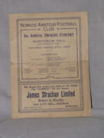 Nomads Amateur Football Program 1920