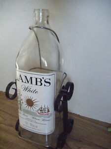 Collectible Lamb's Rum bottle for sale Truro.....