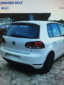 VOLKSWAGEN GOLF 2013 parted OUT 2010-2013