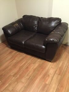 Couch brown leather