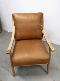 Vintage Leather Armchair - Light Brown