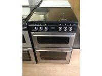 Black/silver gas cooker