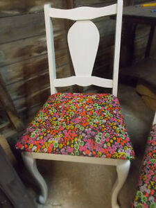 Vintage Refinished Shabby Chic Style Wooden Chair