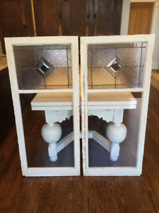 Vintage Leaded Glass Panels - Early 1900's - Mint
