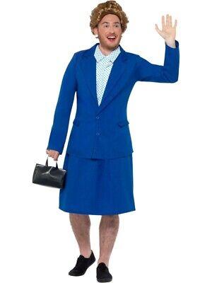 Eiserne Lady Prime Minister Kostüm Damen Blau mit - Eiserne Lady Kostüm