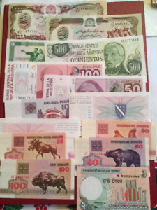 World Bank Notes 100 Uncirculated 1950's to 2000 era