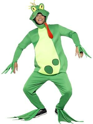 Mens Frog Prince Fancy Dress Costume Outfit M 38-40