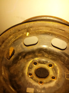 Vw JETTA GOLF RIMS FITS 5X100 .. TWO 15 INCH FOR $50..NOT RUSTY.