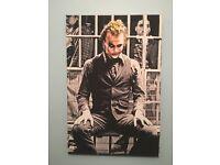 Heath ledgers Joker large custom made canvas print