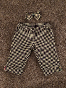 Gymboree size 5T shorts and matching bow hair clip