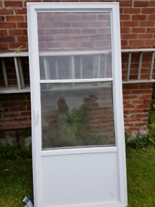Newer white screen door