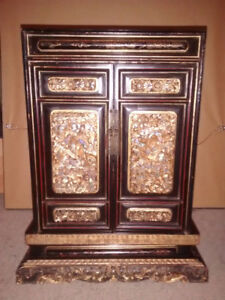 "Antique Chinese Urn Cabinet - 17.5"" X 14"" X 6.5"""