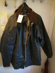 Barbour Bedale size 46 in sage color, thornproof with Tag EX Lar