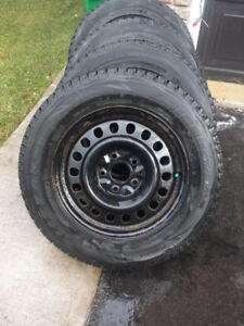 215 60 16 Bridgestone Blizzak WS80 winters on steel rims