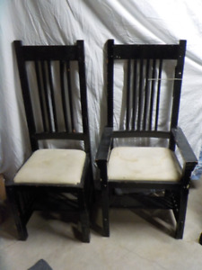 King and Queen wooden chairs - ideal theatrical prop