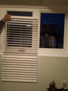 FAUX WOOD BLINDS.White  (3) $30.00 each.