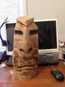 Tiki wood carvings-Limited time price special
