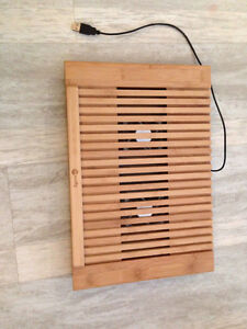 Cooling Pad with 2 built in fans (Wood) for laptop