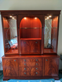 Beautiful Dresser Display Cabinet with lights and cocktail cabinet