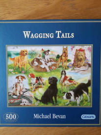 Wagging Tails 500 pc COMPLETE Jigsaw