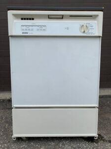 Kenmore portable dishwasher, 12 month warranty