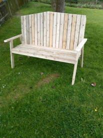 Large wooden arch back garden benches pressure treated timber