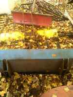 4ft small/mid size tractor manure loader bucket with forks