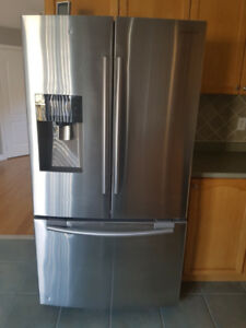 Used Samsung Fridge 24.6 cu. ft. 3-Door French Door Fridge