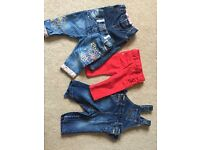 Girls aged 6-9 months jeans