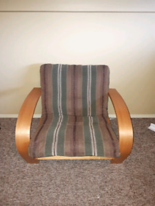 Futon couch and chairs