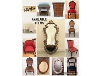 Mirrors , tables , chairs , Stag drawers , shabby Chic , antique , vintage