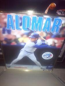 Roberto Alomar Blue Jays Poster Framed Glass