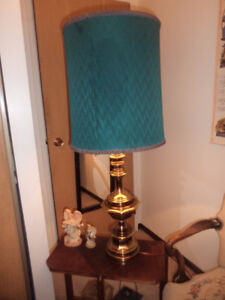 two brass lamps( vintage) super exc condition. 35.00 for both