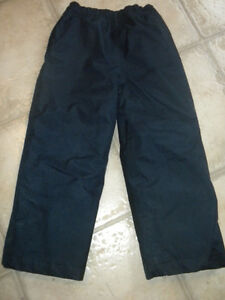 Navy blue lined snow pants