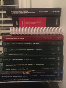 Mohawk College Paralegal First Year Textbooks