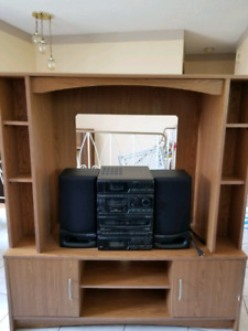 Entertainment Unit and Mini Stereo