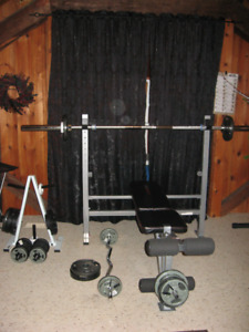 Exercise Weights & Bar - $800 NEW - 1 year old!