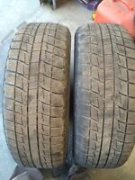 Pair of used 195/65/15 Blizzak winter tires - snow is coming!!