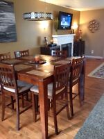 """54"""" x 54"""" Dinning Room Table & Chairs"""