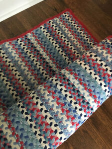 Pot Barn - Area Rug - 5'x7' - Blue/Red/White - Pink/Green/White