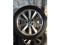 BMW sport alloy wheels genuine not m sport 5120 VW transport 5120 pcd alloy wheels tyres