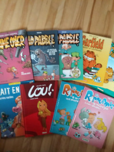 Bandes dessinées KidPaddle, Lou, Ripoupons, Garfield, Gameover