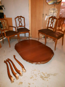 French provincial table and chairs