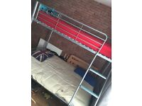Single bed frame with seat/bed
