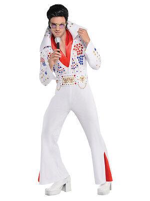 Adults Mens Rock Star The King Of Pop Las Vegas Fancy Dress Party Costume (Star Kostüm Las Vegas)
