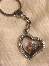 Heart Memory Locket Keyring
